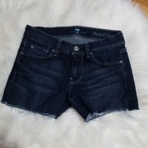7 for all mankind jean cut off shorts